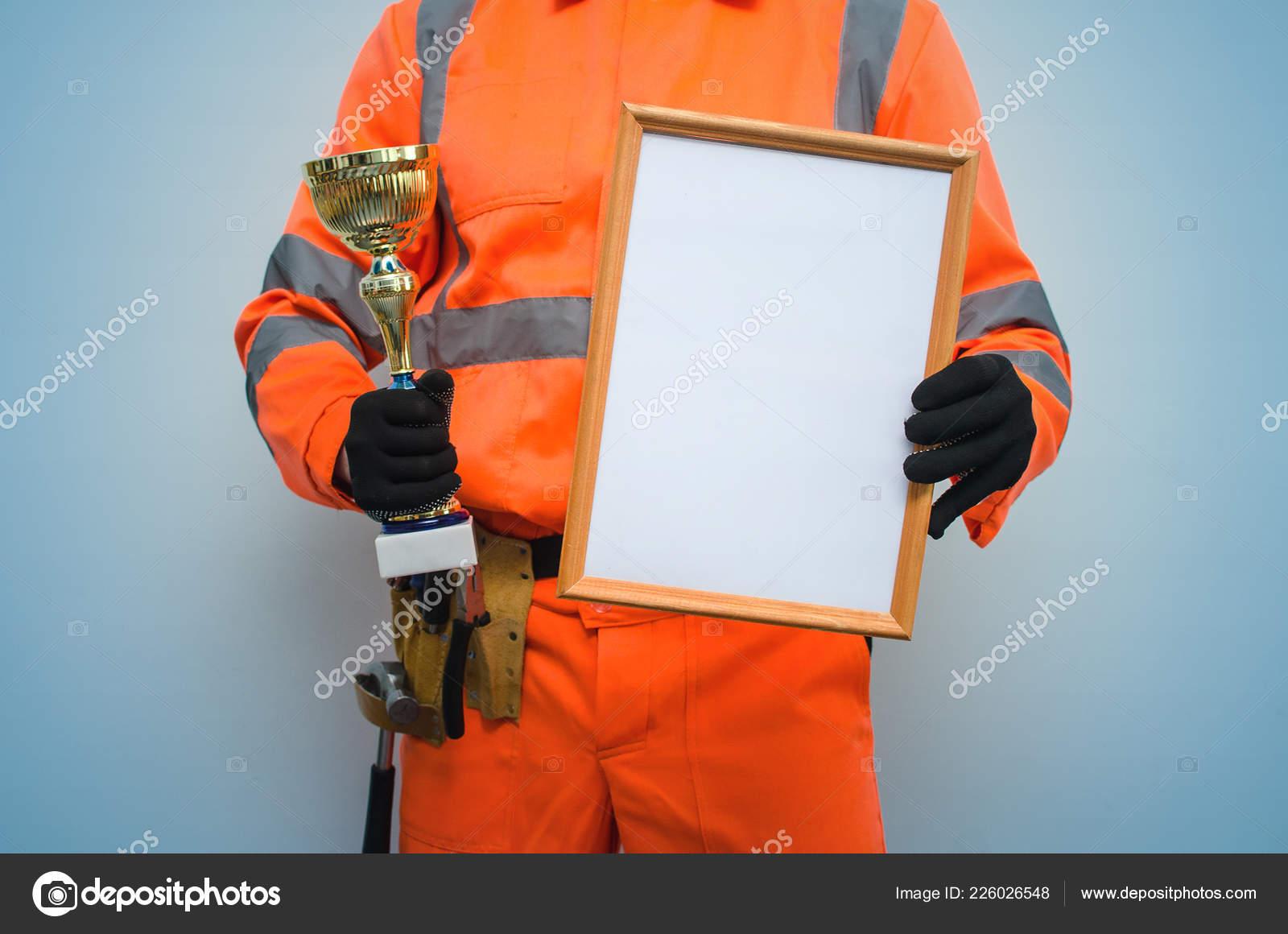 Best Builder Contractor Award Concept Golden Cup Trophy
