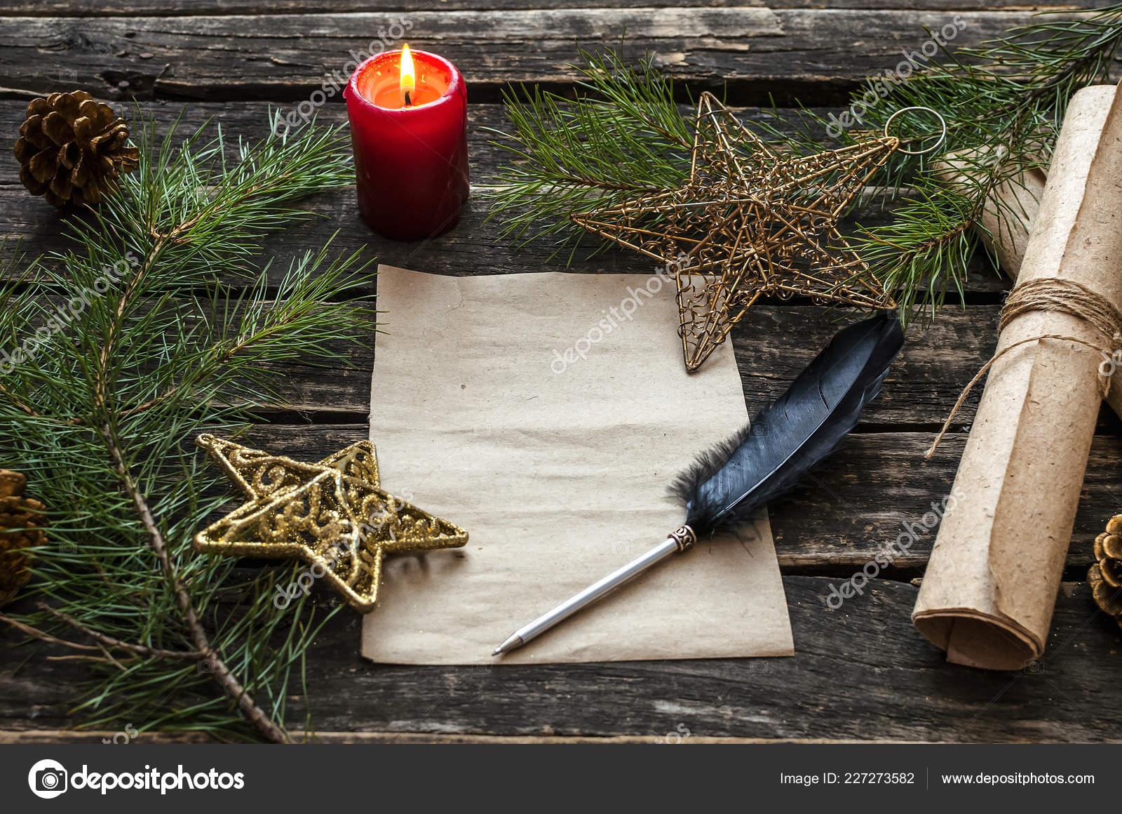 Brief Santa Claus Mock Weihnachten Vorlage Liste Tun Weihnachten