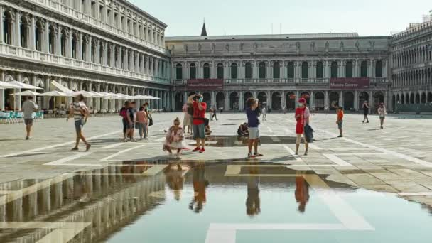 San Marco square in Venice with tourists 2