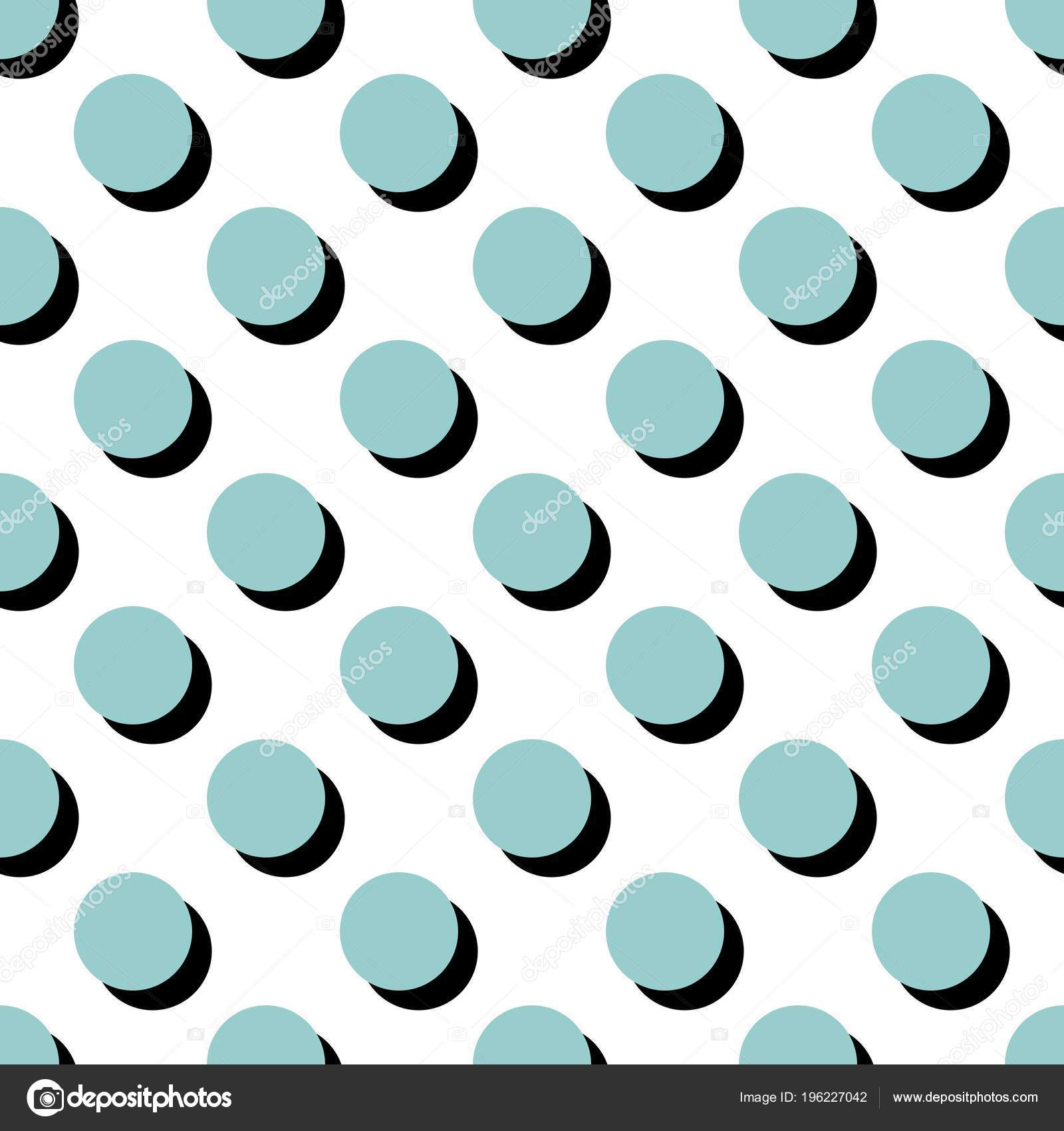 Tile Vector Pattern Blue Polka Dots White Background — Stock Vector ...