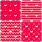 A szív rózsaszín és piros háttér vektor kimono