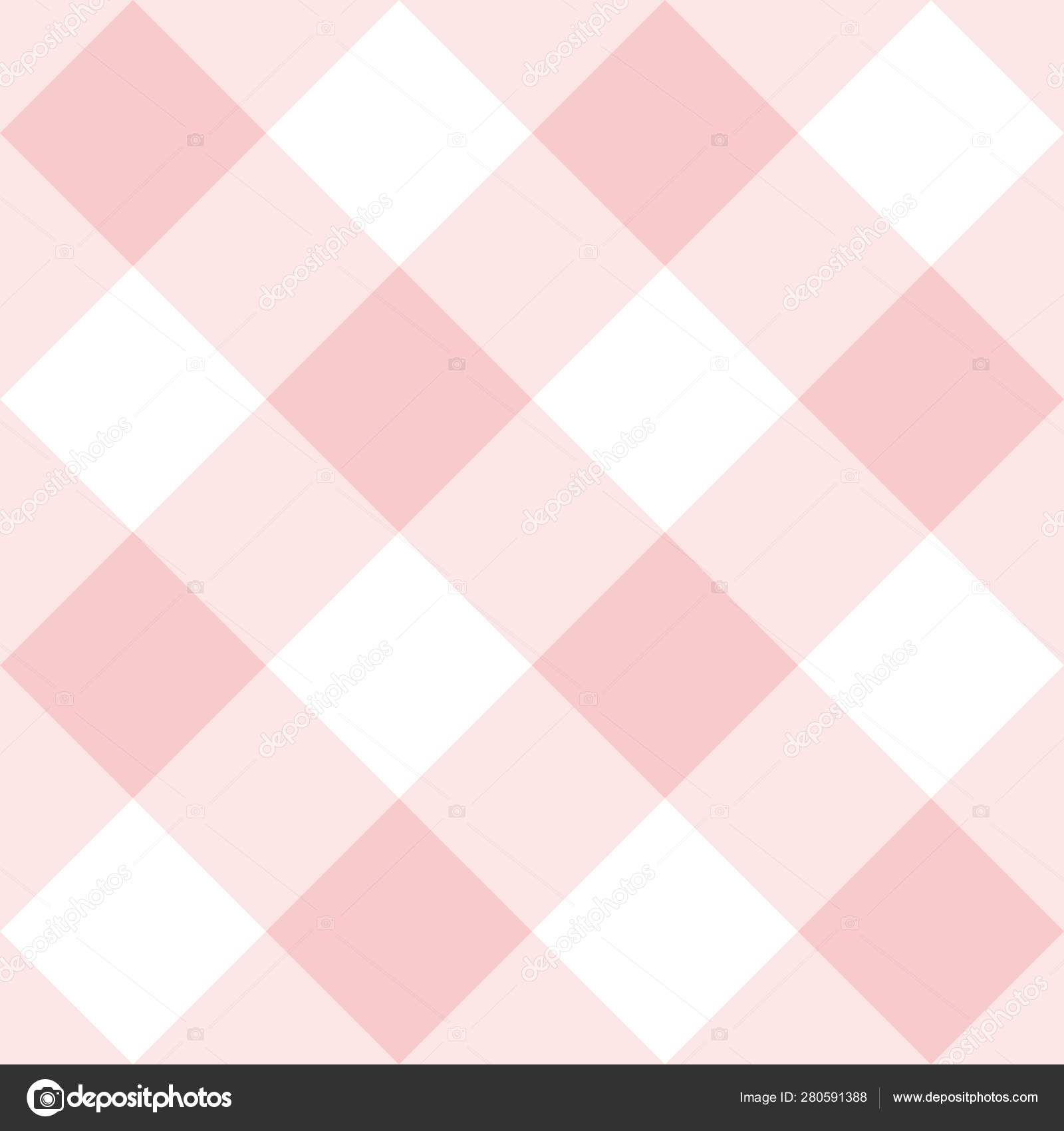 Pink And White Grid Wallpaper