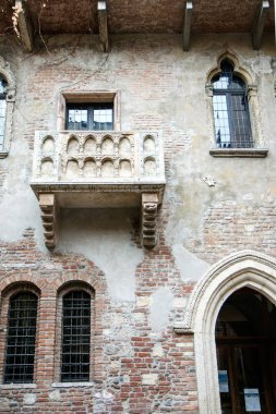 View of Romeo and Juliet balcony at daytime, Verona, Italy