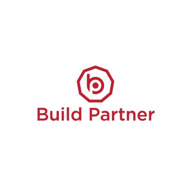 Letter b and p logo design