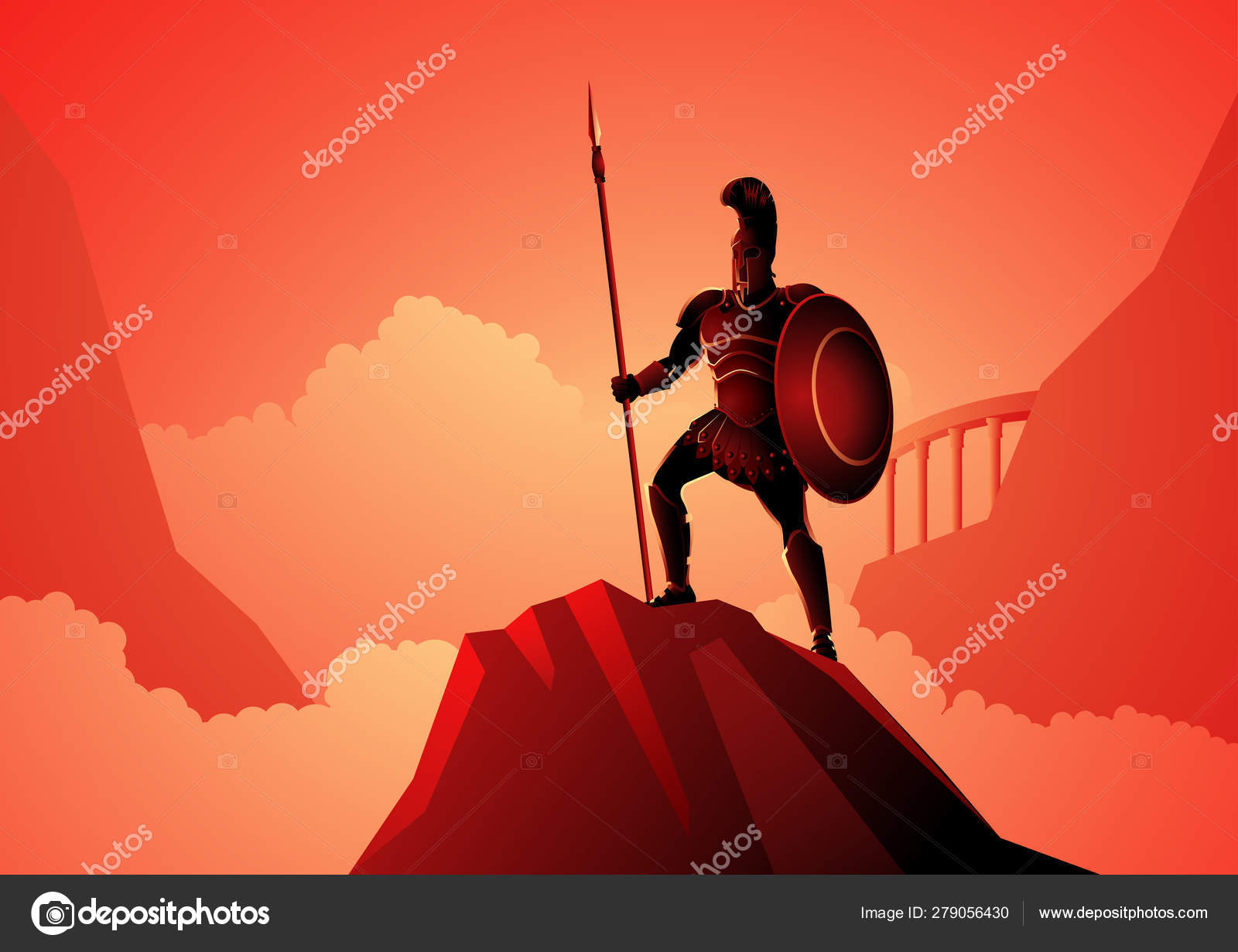 Ares The Greek God Of War Stock Vector C Rudall30 279056430