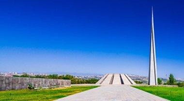 The Armenian Genocide memorial complex in Yerevan, Armenia