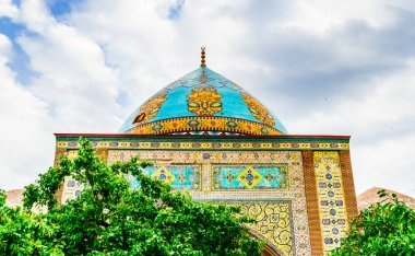 Blue mosque inYerevan with Decorated cupola, Armenia