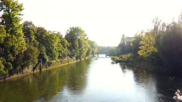 Isar Fluss von Ludwigsbridge in München, Deutschland