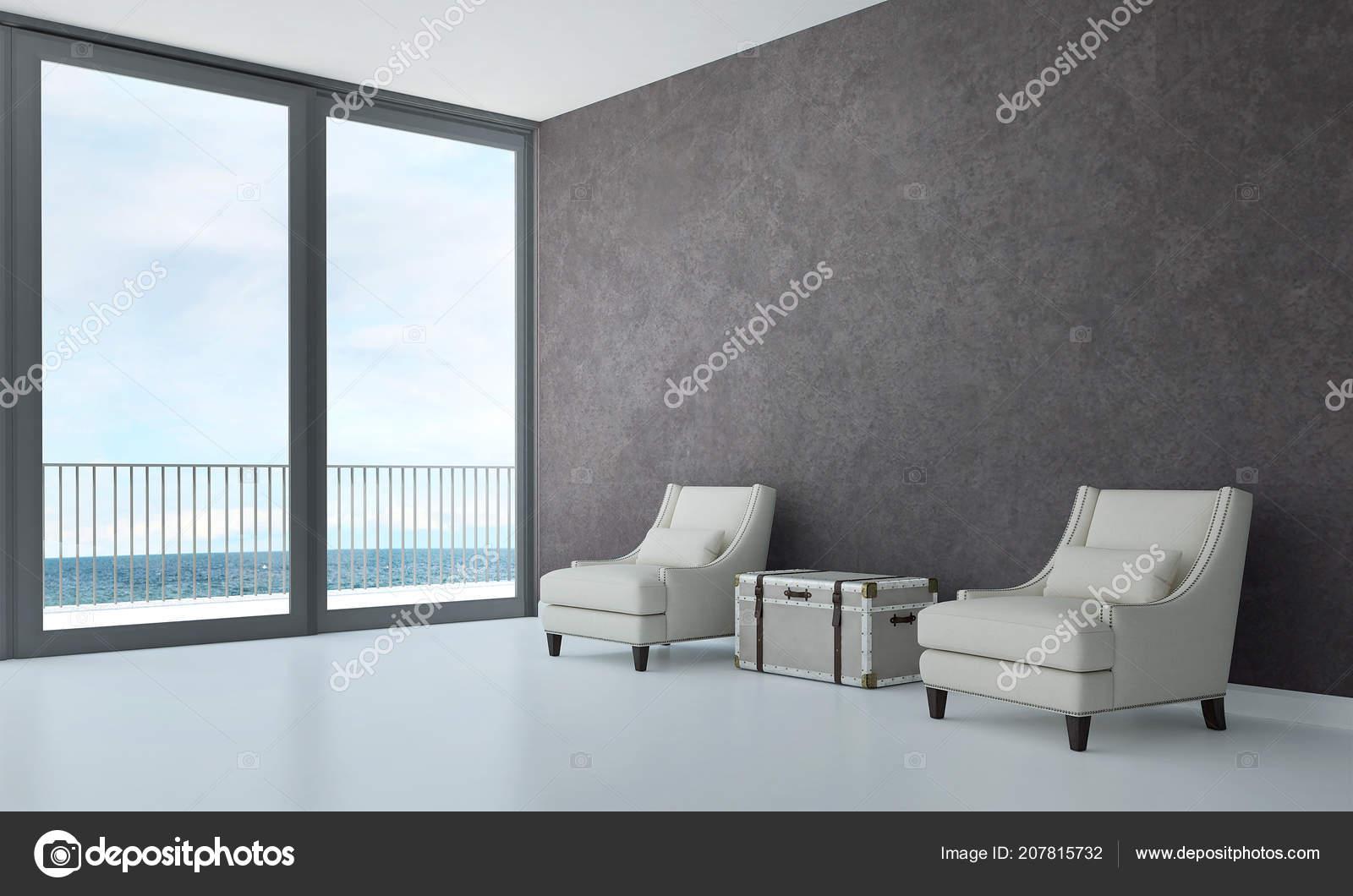 Moderne Luxus Wohnzimmer Interior Design Und Beton Textur