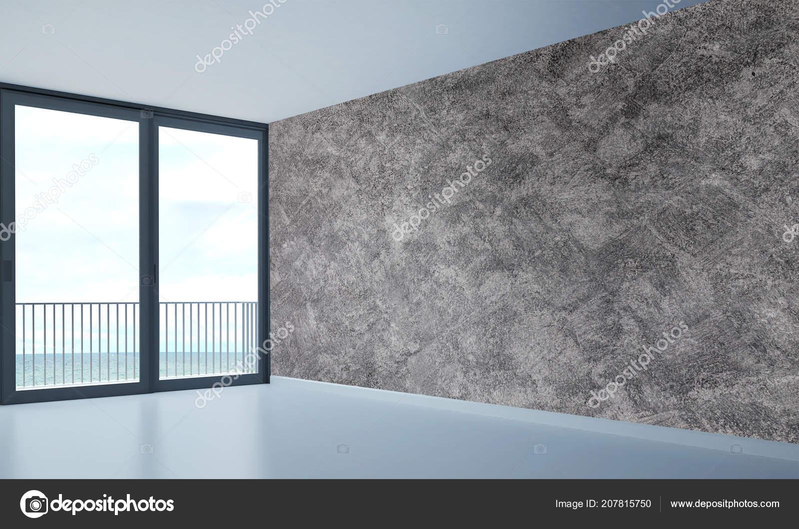 Moderne Leeren Wohnzimmer Interior Design Und Konkrete ...