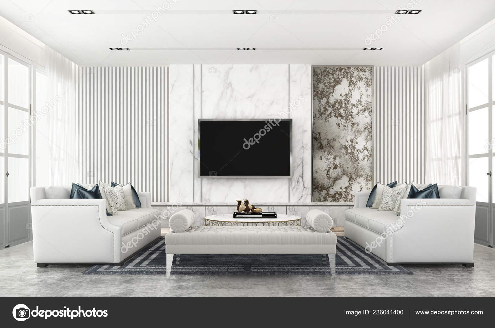 Interior design for hall tv wall | Modern Ckassic Living ...