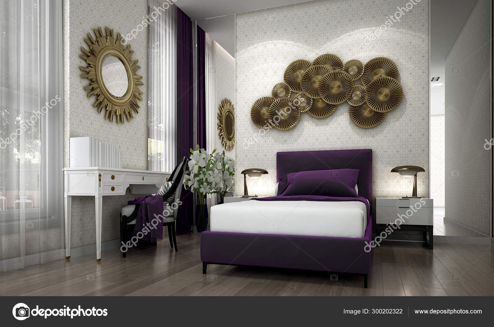 Modern Senior Bedroom Interior Design Texture Wall Background Stock Photo By C Teeraphan 300202322