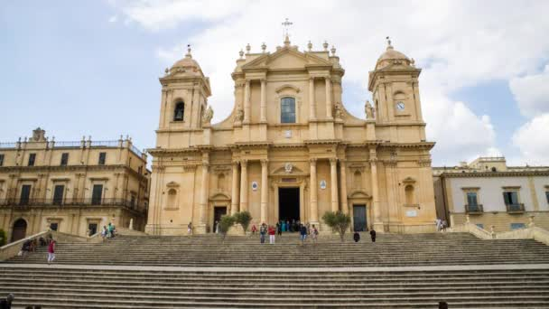 Time Lapse of the Baroque style cathedral of Noto Sicily Italy