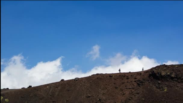 Time Lapse, representative of people taking a walk in the mountains