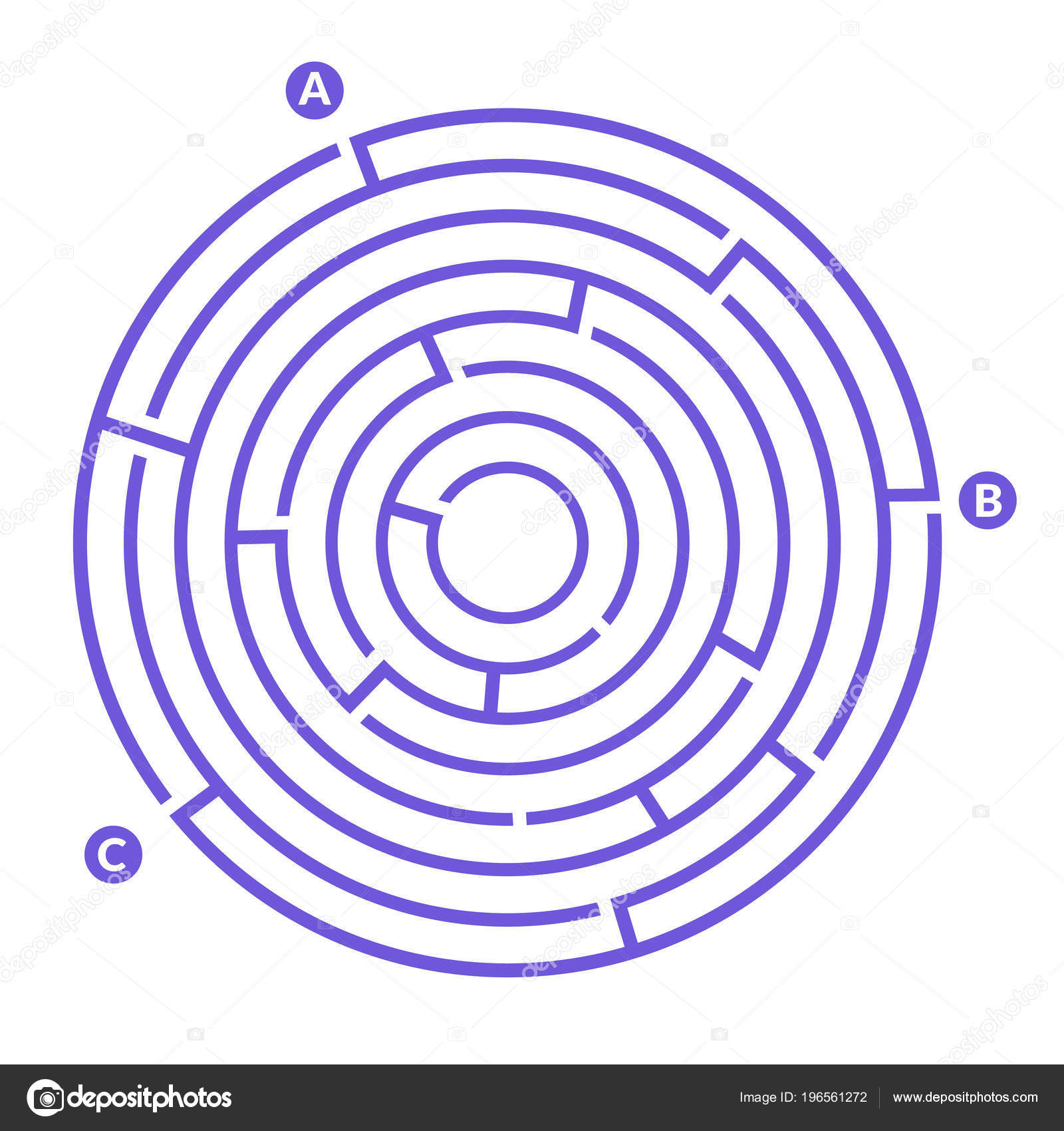 Simple Maze Labyrinth Game Kids — Stock Vector
