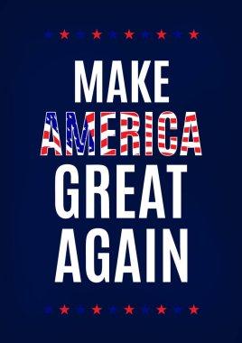 Campaign slogan card. Make America great again