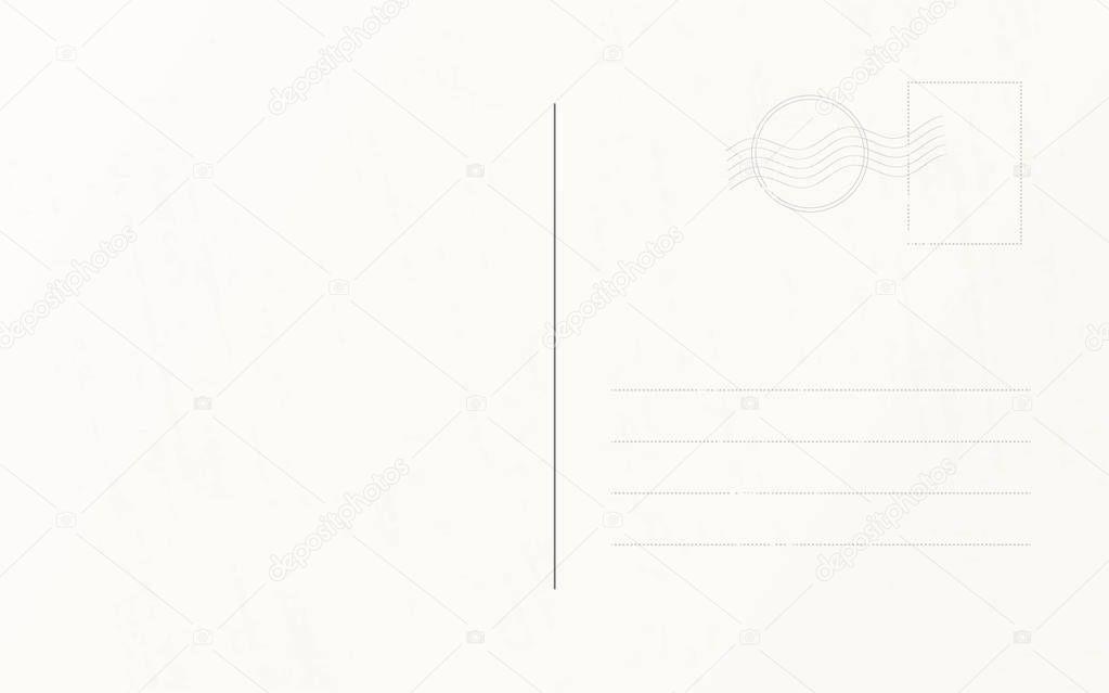 Шаблон почтовой открытки в векторе