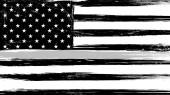 Grunge USA vlajka s tenkým šedým nebo stříbrným-znakem cti a úcty amerických nápravných důstojníků, vězeňských stráží a žalářníků.