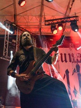 Bergamo, Italy - August 30, 2018: Italian Rock Metal band Lacuna Coil performs at Bum Bum Festival 2018. Brambilla Simone Live News photographer
