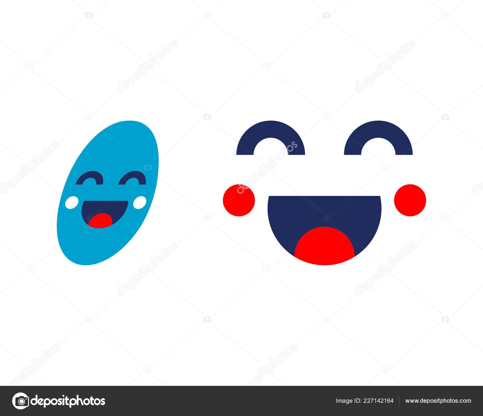 set smile icon template design smiling emoticon vector logo face