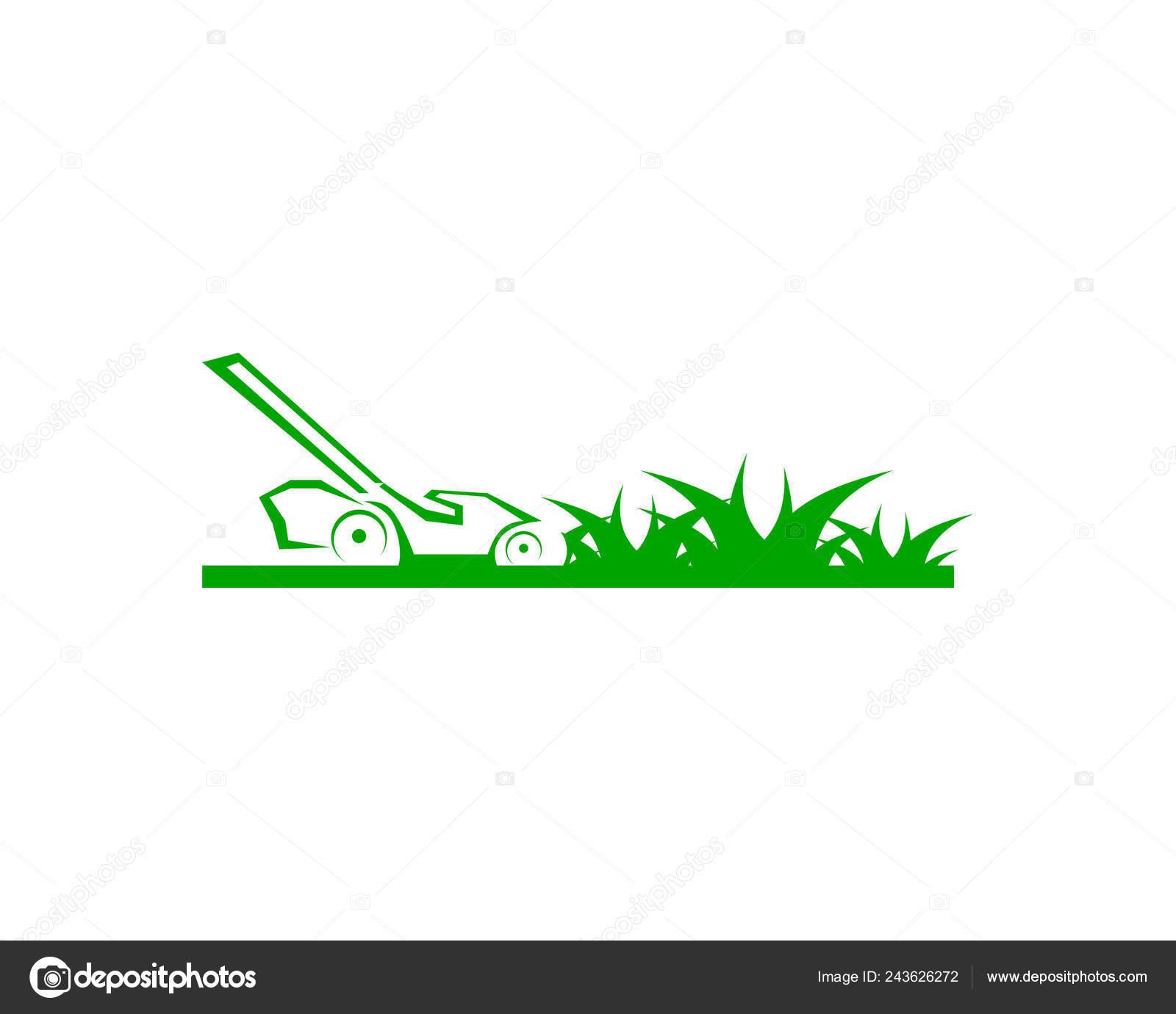 lawn care logo design template vector  u2014 stock vector