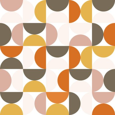 Geometry minimalistic artwork poster with simple shapes and figures. Abstract pattern design in Scandinavian style for branding, web banner, business, fashion, prints on fabric