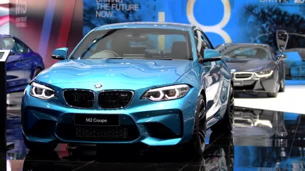 BANGKOK - MARCH 27 : BMW M2 Coupe car on display at Bangkok International Motor Show 2018 on March 27, 2018 in Bangkok, Thailand.