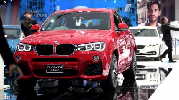 BANGKOK - MARCH 27 : BMW X4 Xdrive20d M sport car on display at Bangkok International Motor Show 2018 on March 27, 2018 in Bangkok, Thailand.