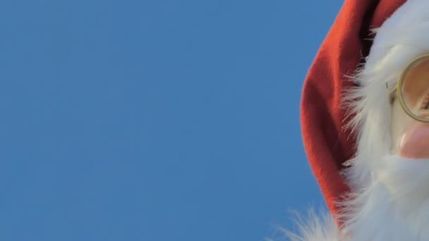 Santa Claus baba dekoráció a karácsony. Dolly lövés