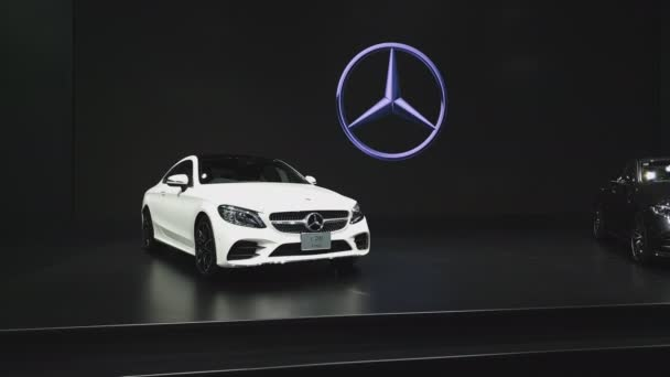 NONTHABURI - NOVEMBER 28: Mercedes-Benz C 200 Coupe car on display at The 35th Thailand International Motor Expo on November 28, 2018 in Nonthaburi, Thailand.