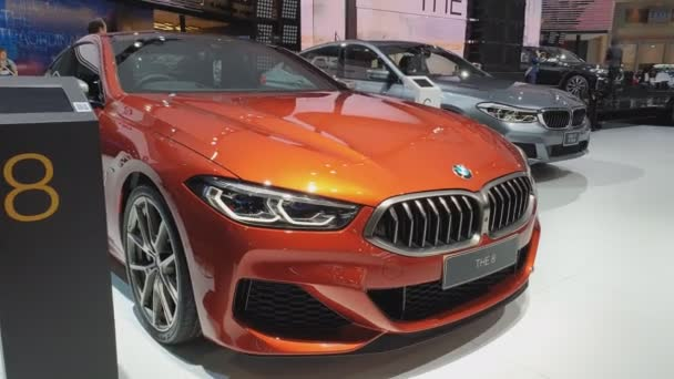Nonthaburi-26. března: BMW auto na displeji na 40tém Bangkok International Thajsko motor show 2019 na 26. března 2019 Nonthaburi, Thajsko.