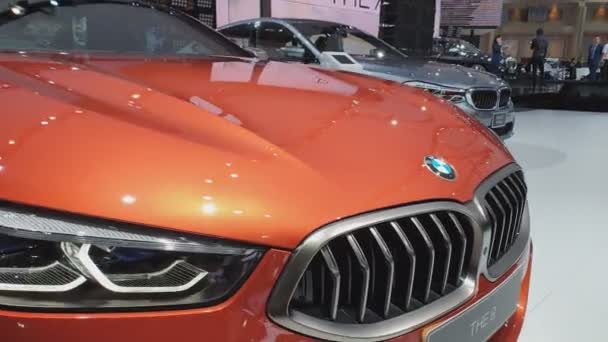 NONTHABURI - MARCH 26: BMW The 8 car on display at The 40th Bangkok International Thailand Motor Show 2019 on March 26, 2019 Nonthaburi, Thailand.