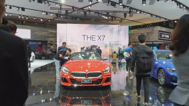 NONTHABURI - MARCH 26: The all-new BMW Z4 car on display at The 40th Bangkok International Thailand Motor Show 2019 on March 26, 2019 Nonthaburi, Thailand.