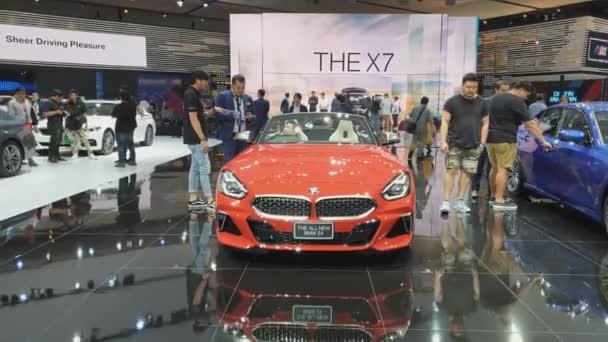 Nonthaburi-26. března: ALL-New auto BMW Z4 na displeji na 40tém Bangkoku International Thajsko motor show 2019 na 26. března 2019 Nonthaburi, Thajsko.