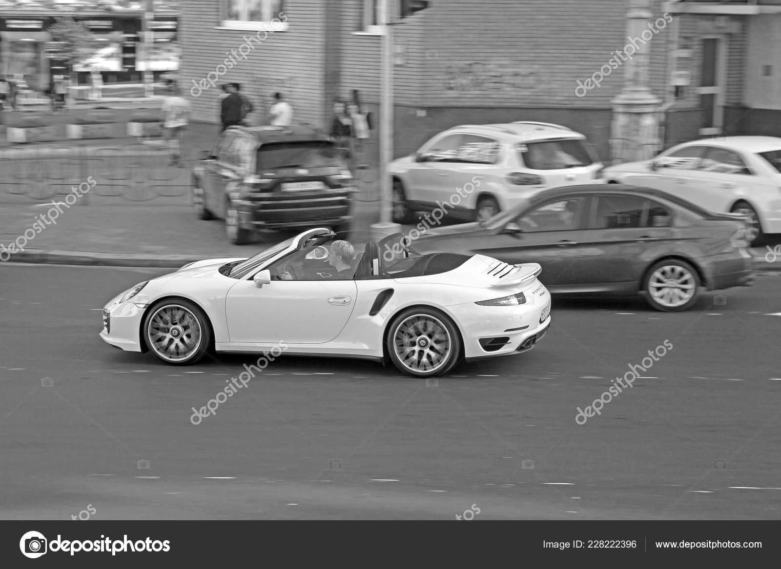 Odessa Ukraine September 2017 White Convertible Motion Porsche 911 Turbo Stock Editorial Photo C Amor7 228222396