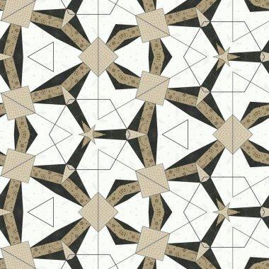 Abstract colorful hexagon square geometric seamless pattern symmetric kaleidoscope fashion, design
