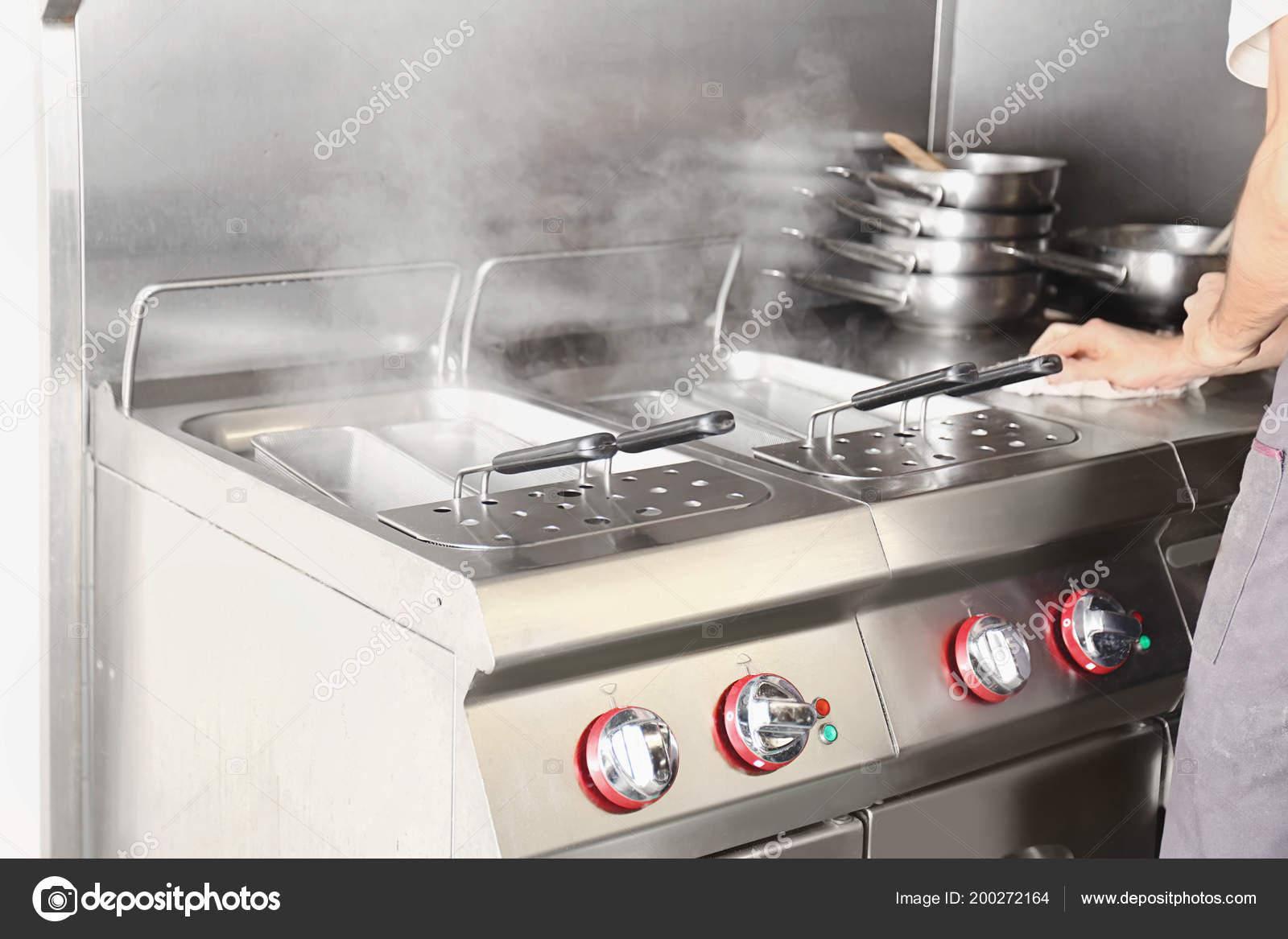 Pasta Boiler Professional Kitchen Restaurant Stock Photo