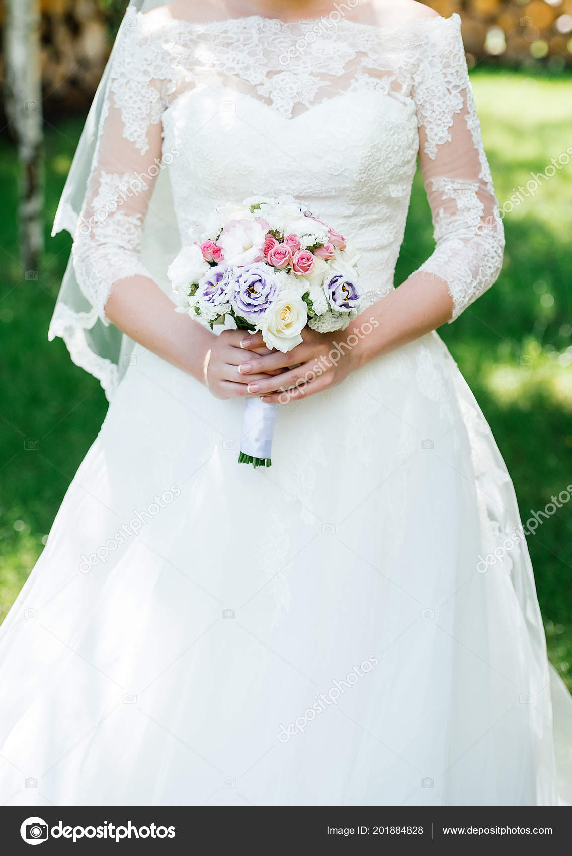 Pictures Wedding Bouquets With Purple Flowers Beautiful