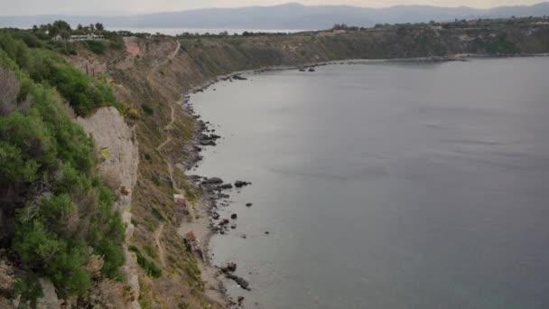 Capo di Milazzo, Sicily. Rocky coastline of Sicily. Landscape of Italy.
