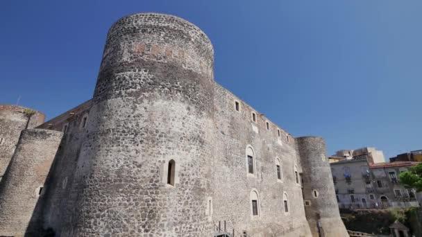 Castello Ursino a Catania. Architettura della Sicilia, Italia.