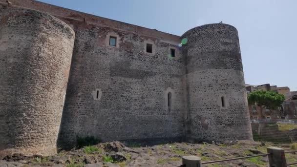 Castello Ursino in Catania. Architecture of Sicily, Italy.