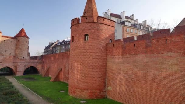 Varšava Barbican. Architektura starého města, Varšava, Polsko.