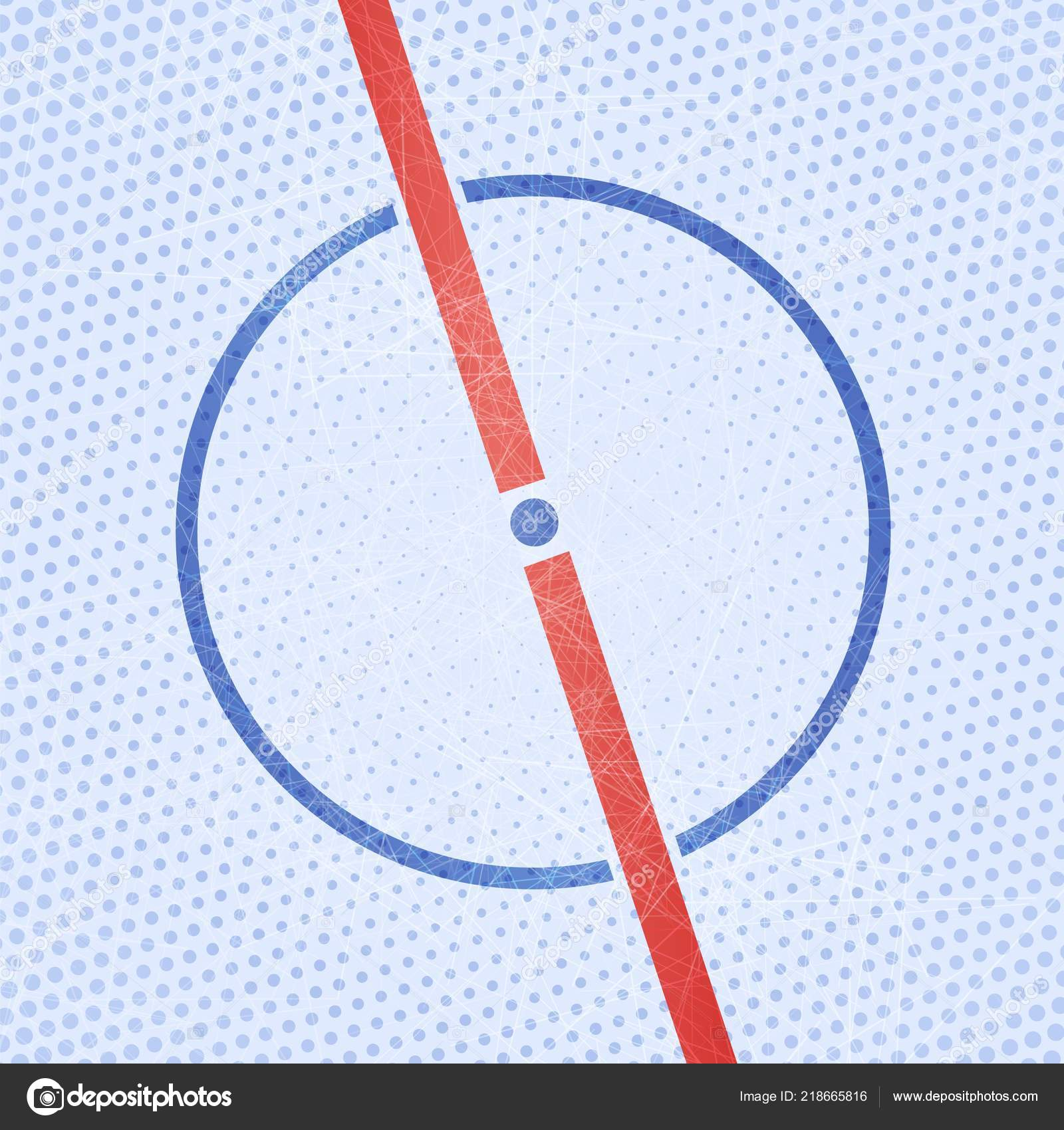hockey ice rink cartoon and halftone background vector illustration