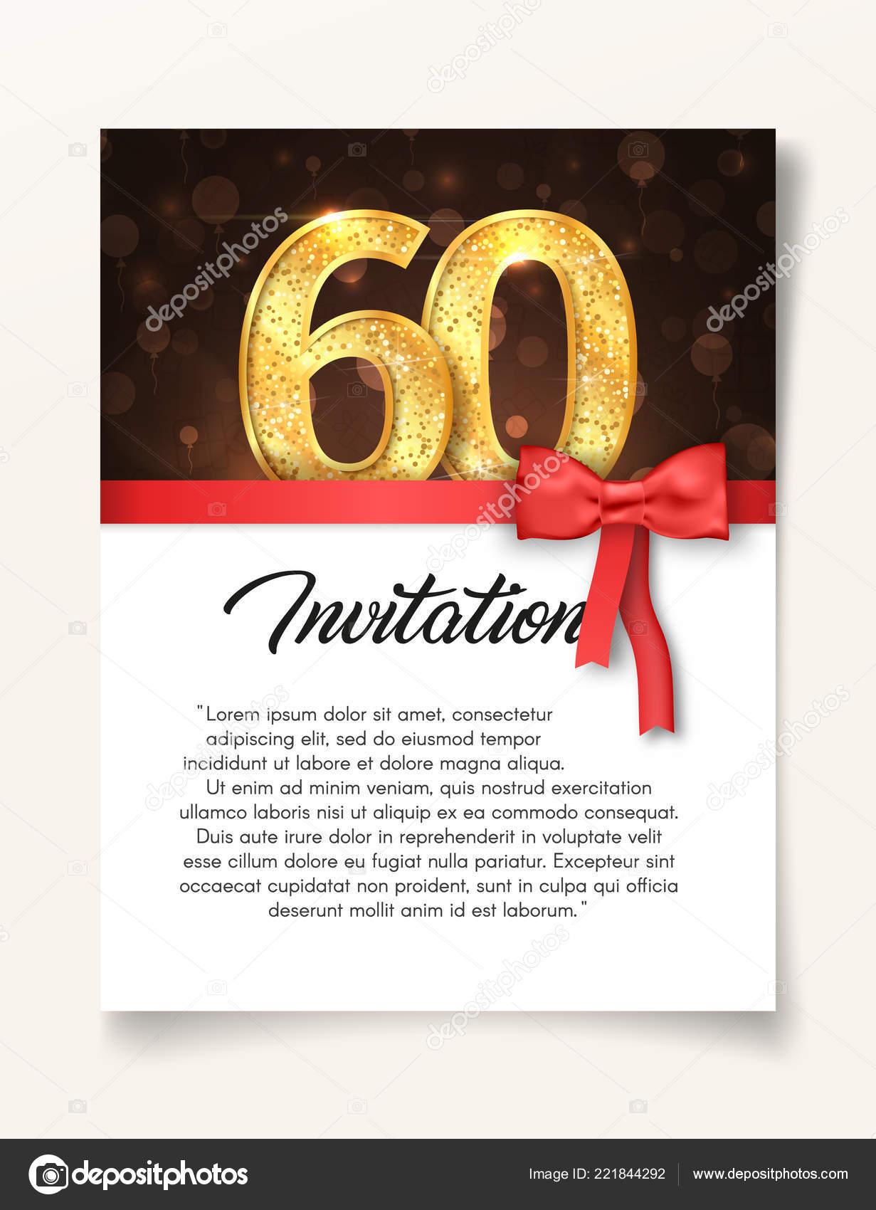 Hochzeit Einladung Kartenvorlage Zum 60 Jahrestag Mit Abstract Text