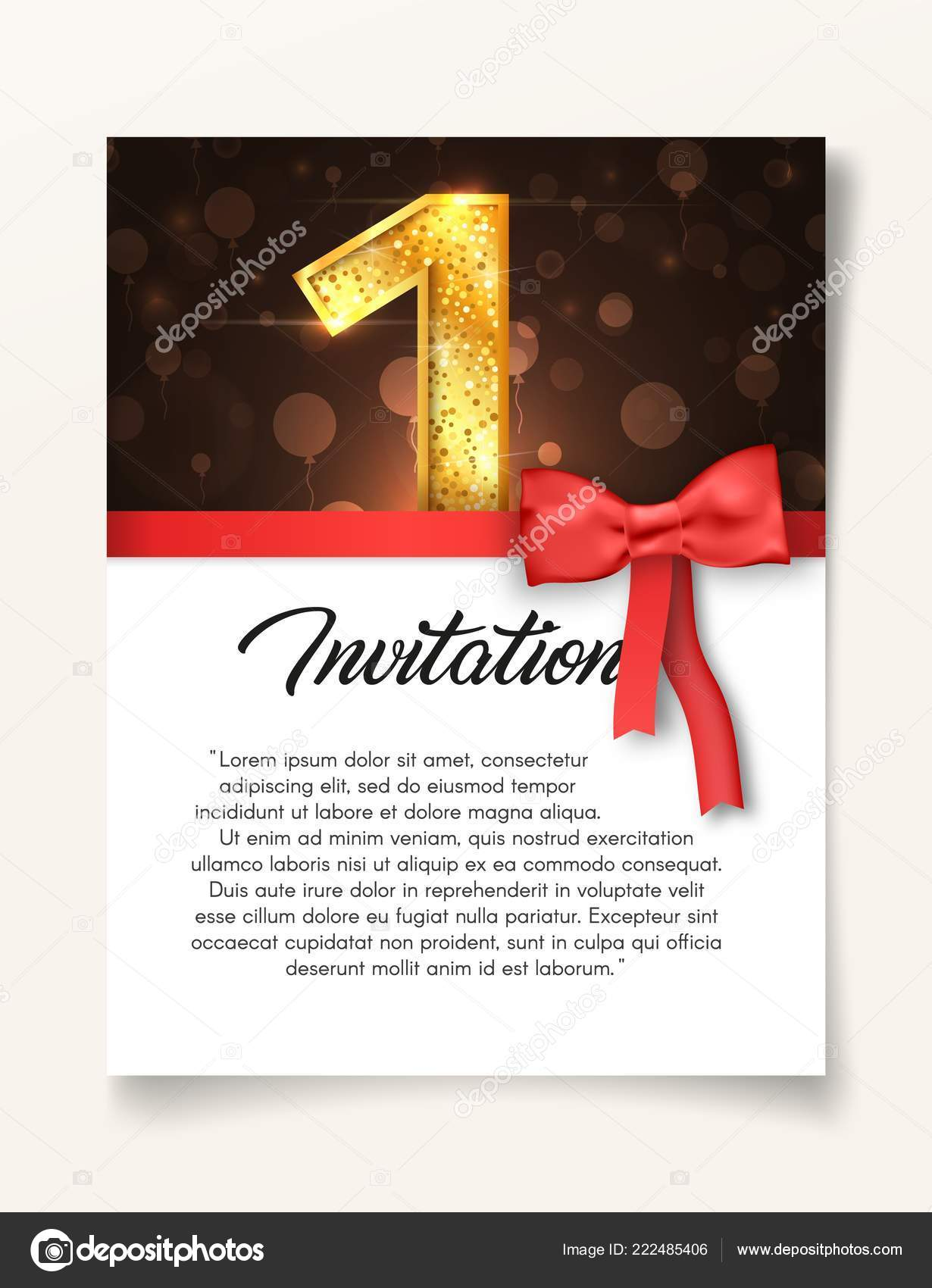 De La Boda Plantilla De Tarjeta De Invitación Para El Día