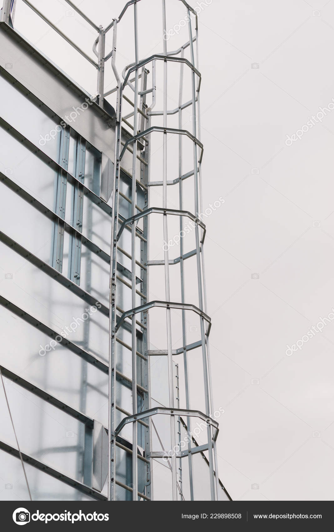 Industrial Metal Ladder Protection Railing Safety Rules