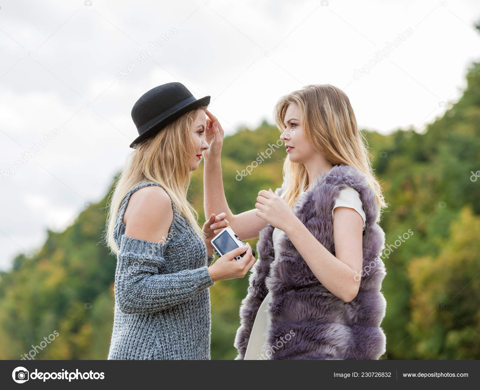 Scenes Photo Shoot Two Females Friends Having Fun Outdoor Photo Stock Photo Image By C Anetlanda 230726832 Best friends shoot best friend poses cute friends photoshoot friends poses with friends photos bff friend 50+ ideas for photography friends photo shoots bestfriends #photography. depositphotos