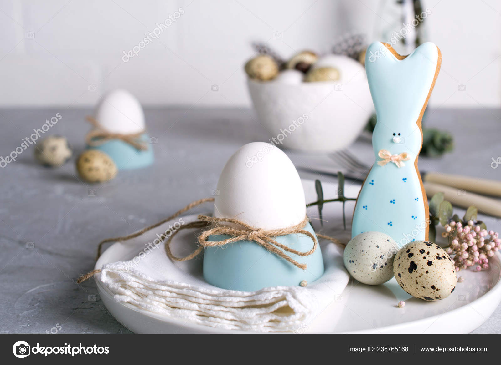 Homemade Easter Cookies Shape Funny Bunny Quail Eggs Chicken