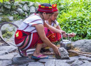 BANAUE, PHILIPPINES - MAY 02 : Women from Ifugao Minority in Banaue the Philippines on May 02 2018. The Ifugao minority mostly live in the mountains of north Philippines