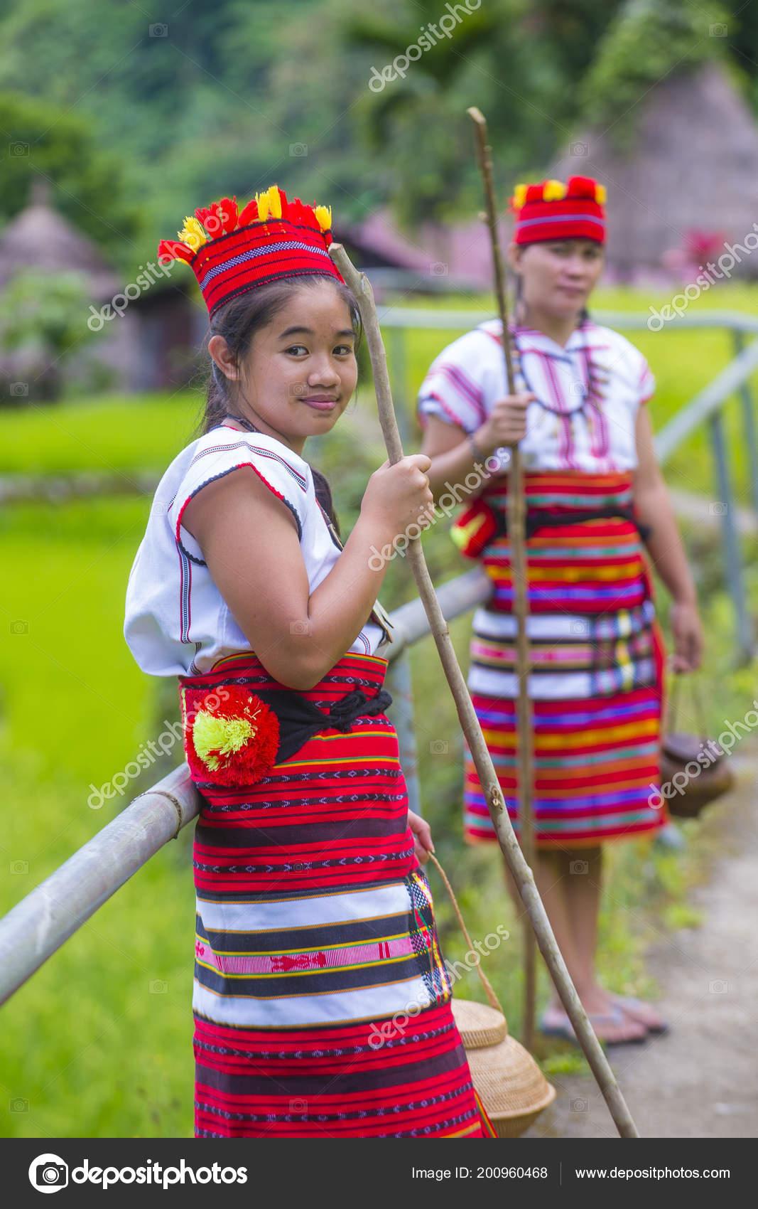 Banaue Filipinas Mayo Mujeres Ifugao Minoría Cerca Unas